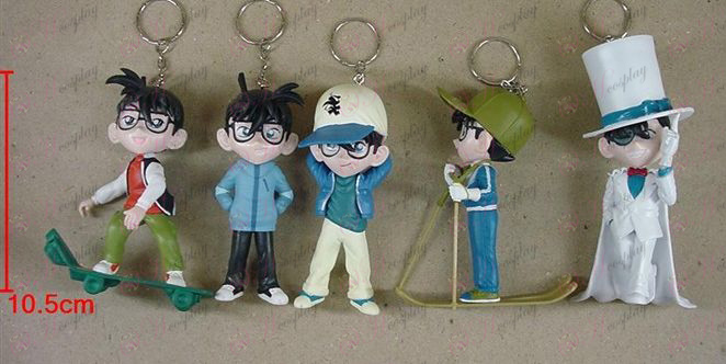 7th generation 5 models Conan doll keychain