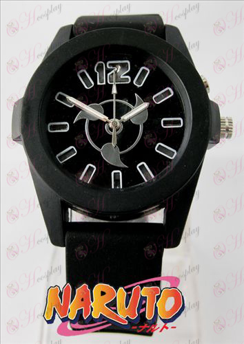 Naruto write round eyes colorful flashing lights Watch - Black