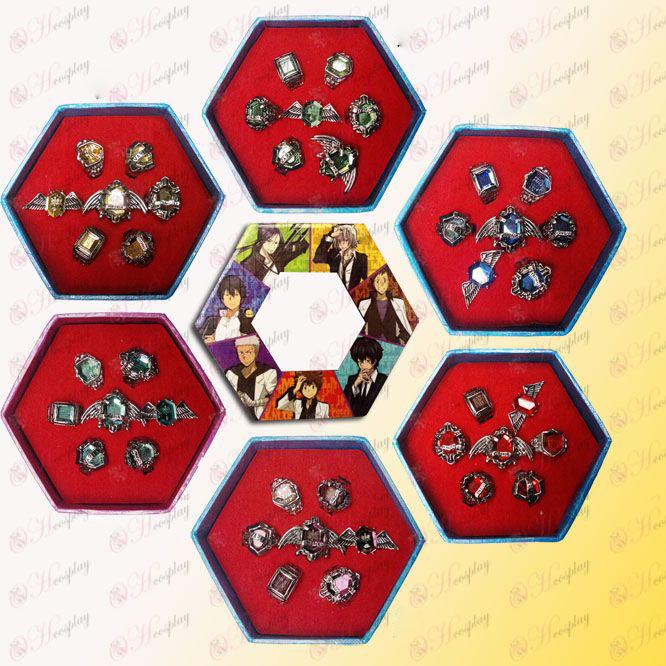 家庭教師ヒットマンREBORN!アクセサリー1パッケージ内の6色が選出記念版セットリング