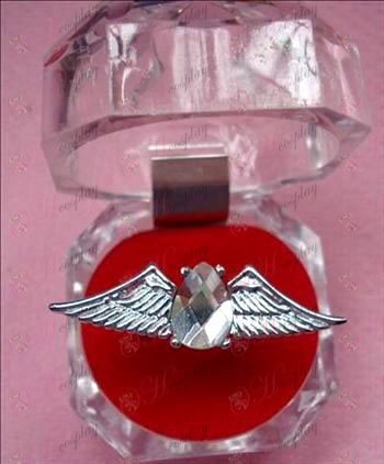 Gjenfødt! Tilbehør vinger Ring (Crystal Hvit)