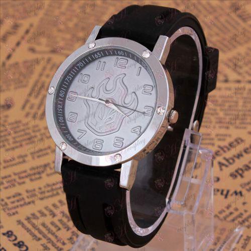 Bleach Príslušenstvo Fire tvare hodinky s diamantmi razené