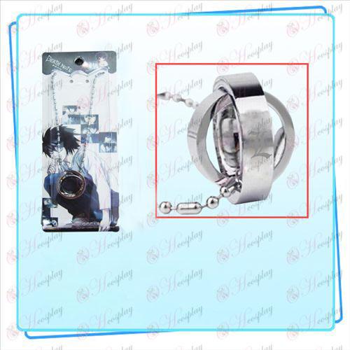 Death Note príslušenstvo Dual Ring náhrdelník (karta)