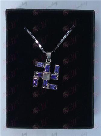 Bleach Tarvikkeet tuhat sanaa kaulakoru (iso violetti)