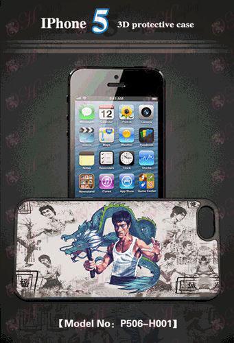 3D matkapuhelimen kuori Apple 5 - Bruce Lee