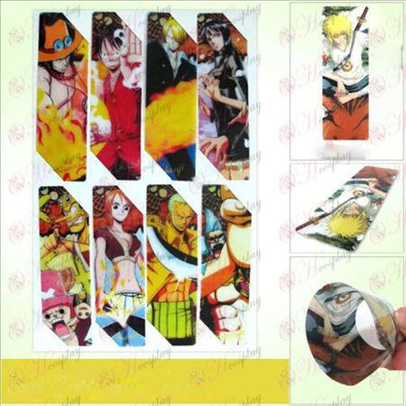 SQ012-One Piece Tilbehør anime store Bokmerker (5 versjonen av prisen)