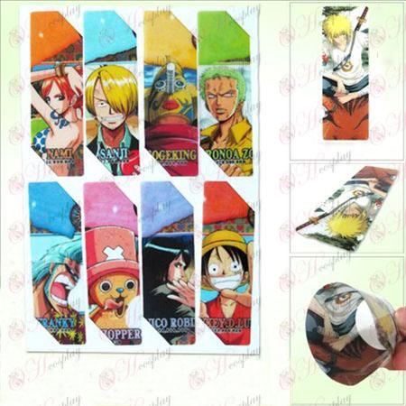 SQ011-One Piece Tilbehør anime store Bokmerker (5 versjonen av prisen)