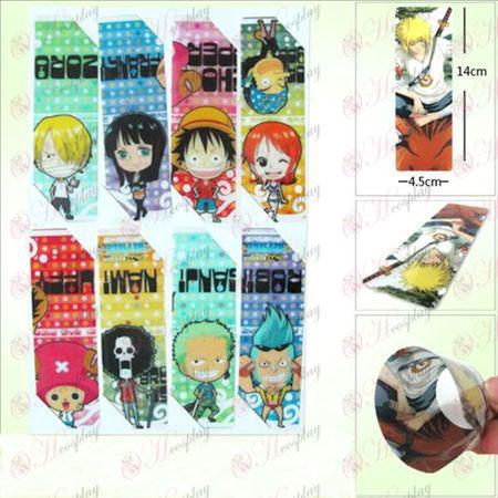 SQ009-One Piece Tarvikkeet anime iso kirjanmerkit (5 version hinta)