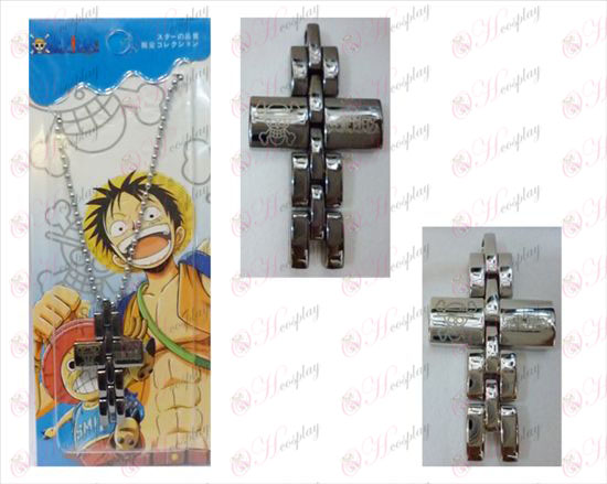 One Piece Accessories black and white cross necklace