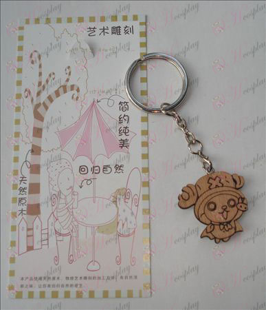 One Piece Tilbehør Joe Wood Carving Keychain (a)