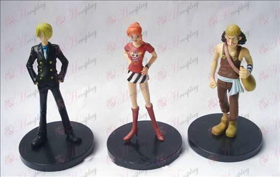 (3) One Piece Accesorios base de muñeca (11 cm)
