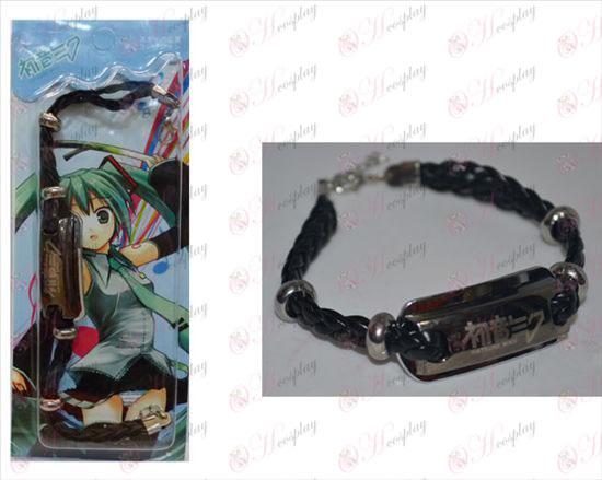 Hatsune shuangpai leather bracelet