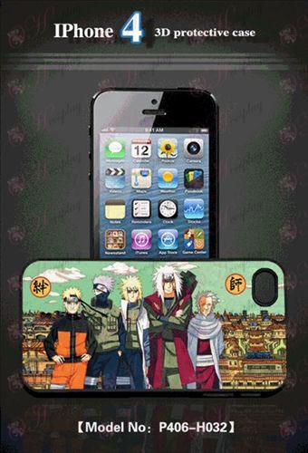3D mobile phone shell Apple 4 - Naruto