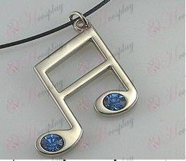 Hatsune note 2 blue diamond necklace