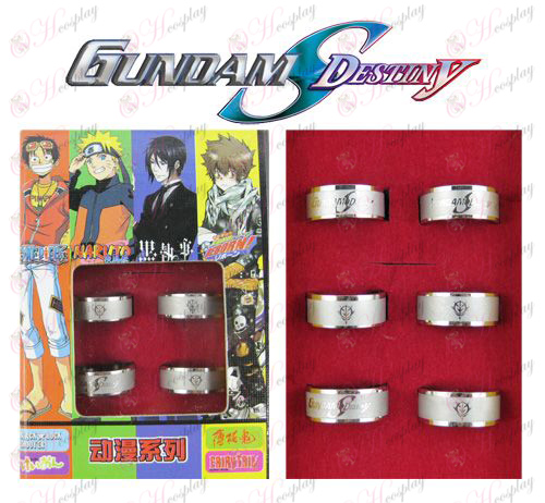 Gundam Accessories Frosted Ring (6 / set)