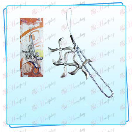 Naruto šípky tri naložené popruh (nikel perla farba)