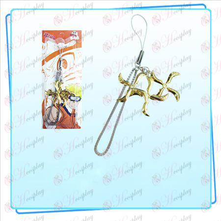 Naruto šípky tri naložené popruh (Gold)