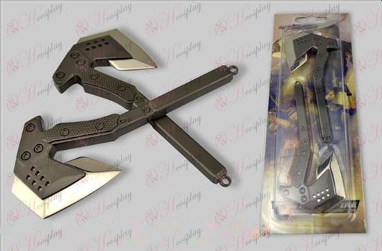 CrossFire Accesorios-14 cm ejército hacha de mano de paquetes (pistola de color)