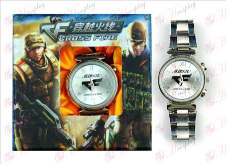 CrossFire Tarvikkeet logo Watch (valkoinen)