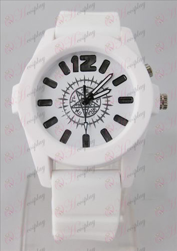 Black Butler Accessories colorful flashing lights Watch - White