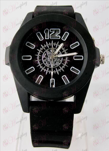 Black Butler Accessories colorful flashing lights Watch - Black