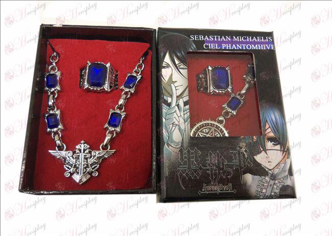 DBlack Butler Accessories eagle logo necklace + ring
