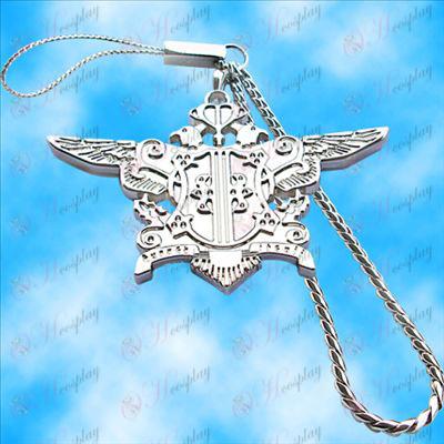 Black Butler Príslušenstvo-Eagle stroje Chain (biely)