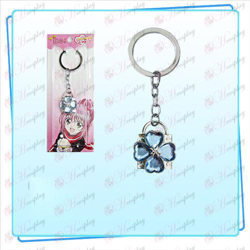 Shugo Chara! Accessories Lock key ring (silver lock blue diamond)