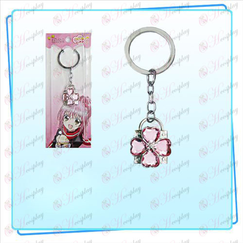 Shugo Chara! Accessories Lock key ring (silver lock Pink Diamond)