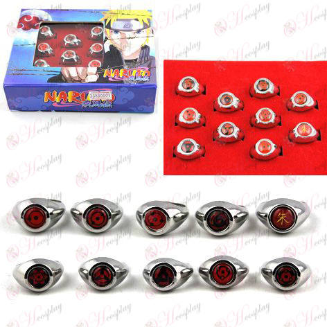 Naruto 10 write round eyes Ring