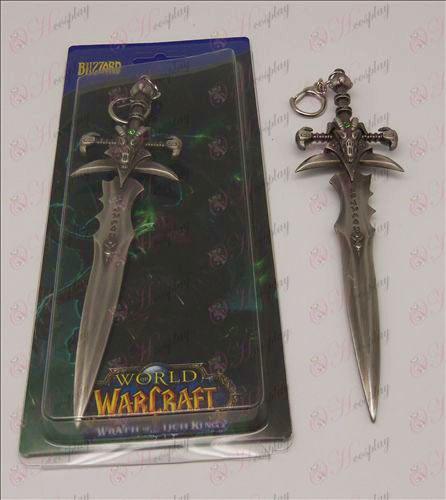Agonía de Escarcha espada hebilla (negro)
