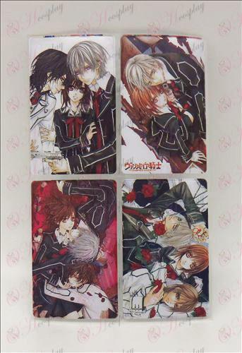 4 PVC Vampire card stickers