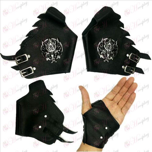 Final Fantasy Accessories Gloves silver wolf scalp