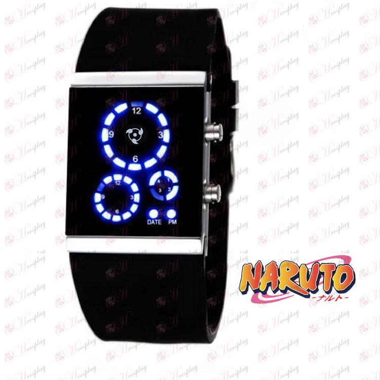 Naruto write round eyes LED watch korean version of the black flag