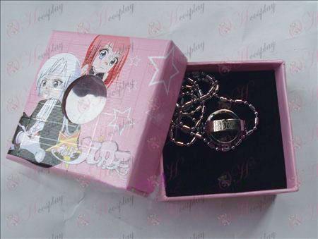 Star-Robar Accesorios muchacha collar doble anillo