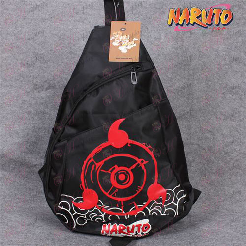 Naruto write round eyes oxford triangle logo tote
