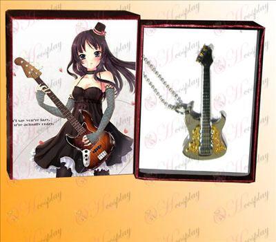Lys tone rustfritt stål gitar anheng halskjede gylne snitt A
