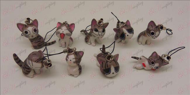9 Sweet Cat Accessories Machine Strap (Grey)