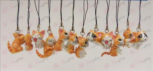 12 Sweet Cat Accessories Toy Machine Strap (Orange)