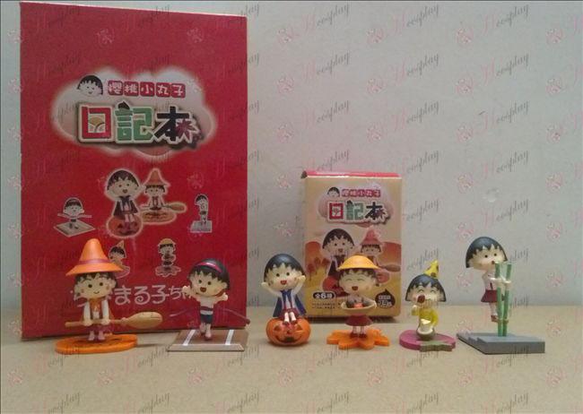 6 Maruko beautifully boxed doll