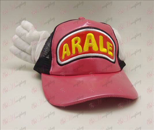 D Ala Lei sombrero (Rose - rojo)