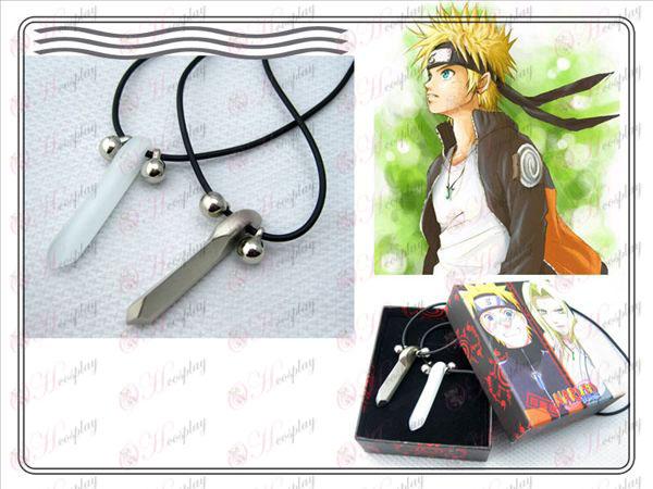 Naruto Naruto par collar Yugen (plata + blanco asiático)