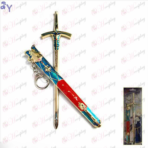 Steins; Gate Accessories Sebastian Stone Bell sheathed sword hanging buckle