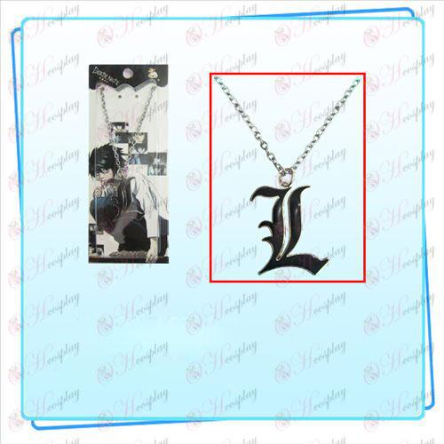 Death Note AccesoriosL signo collar (negro)