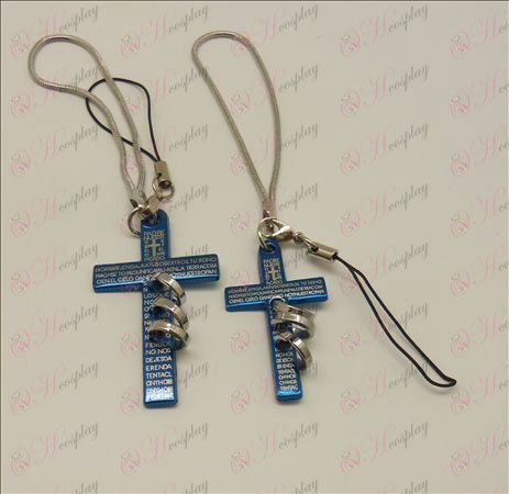 Blister Death Note Accessories tricyclic Couple Phone Strap (Blue)