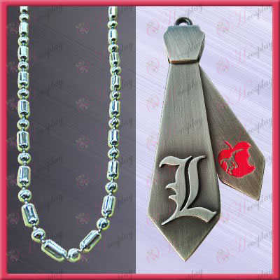 Death do not remember tie-L Word necklace (movable)