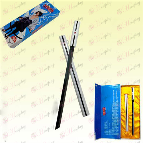 Naruto Sasuke juvenile grass boxed steel sword sheath knife 30CM (White)