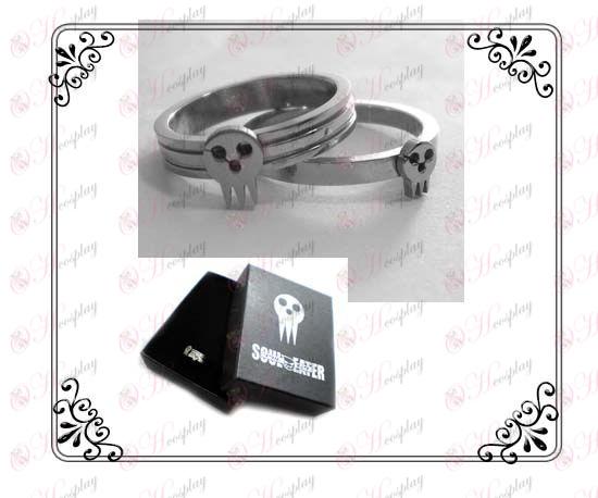 Soul Eater Accesorios inoxidable par de anillos de acero (una sección)