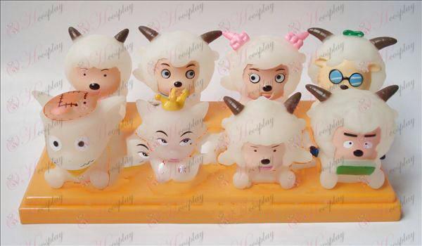 Transparentné Príjemné a Wolf osem Tong lepidlo Doll