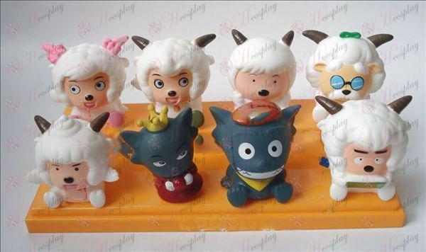 Príjemné a Wolf osem Tong lepidlo Doll