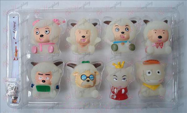 Transparentné Príjemné a Wolf osem rybníky bábiky z umelej hmoty (box)